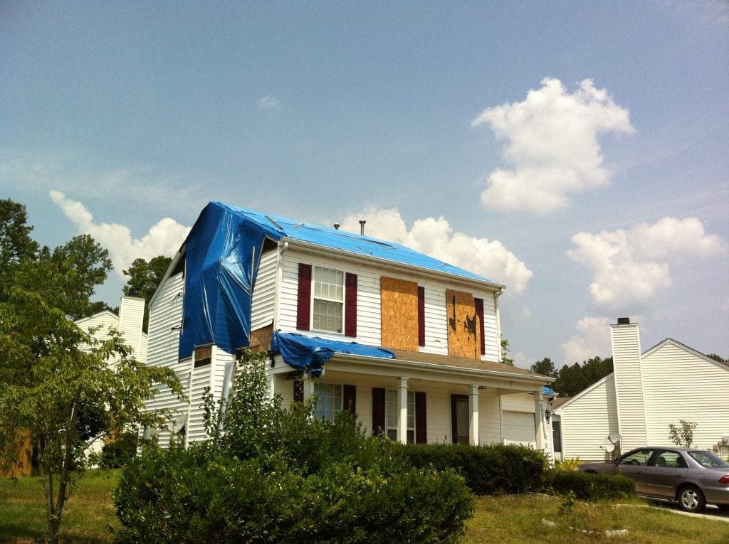 Wind damage for tornado